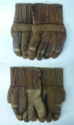 Antique Ice Hockey Gloves - 1910 - Made in Montreal