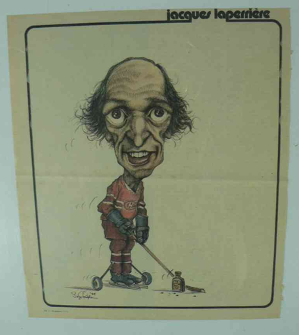 Jacques Laperriere - Caricature Artwork - Montreal Canadiens