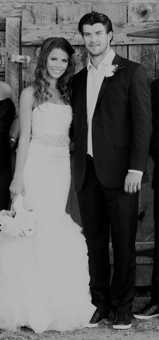 Brent Seabrook with his bride - Dayna Seabrook - 2012