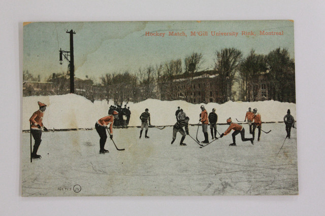 Antique Hockey Game - McGill University Rink - Montreal - 1907
