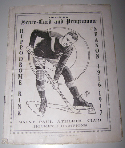 Saint Paul Athletic Club - Programme - Hippodrome Rink - 1916-17