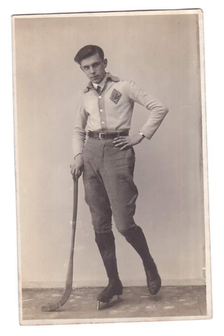 Antique Bandy Player - Latvia - 1920s