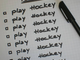 To Do List - Weekend To Do List - PLAY HOCKEY