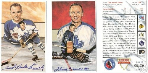 Hockey Cards Hockey Hall Of Fame Set Legends Of Hockey 7