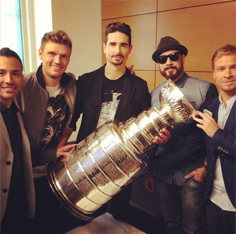 Back Street Boys Hangin with The Stanley Cup at CBS Late Show