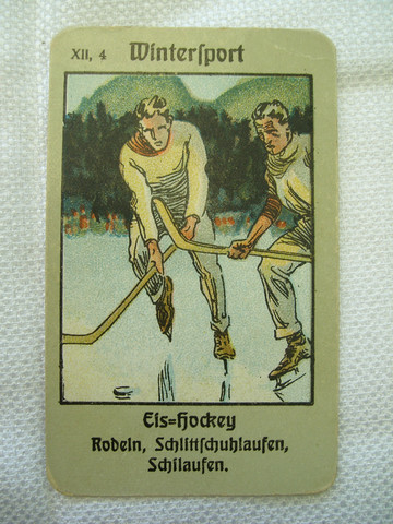 Antique German Eis Hockey Card - 1925