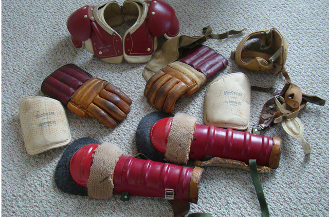 Antique Vintage Kids Ice Hockey Equipment - 1950s