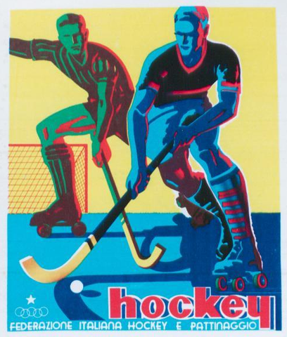 Quad / Roller Hockey Poster - Italy - 1940