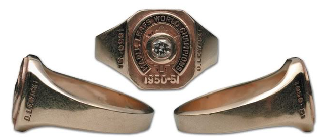 1951 Stanley Cup Ring - Toronto Maple Leafs - Danny Lewicki