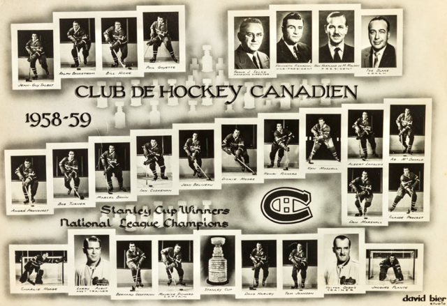 1959 Stanley Cup Champions - Montreal Canadiens