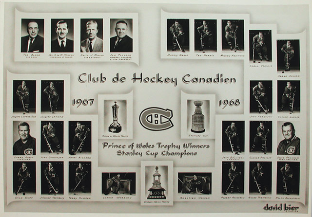 1968 Stanley Cup Champions - Montreal Canadiens
