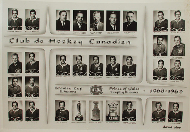 1969 Stanley Cup Champions - Montreal Canadiens