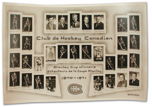 1971 Stanley Cup Champions - Montreal Canadiens