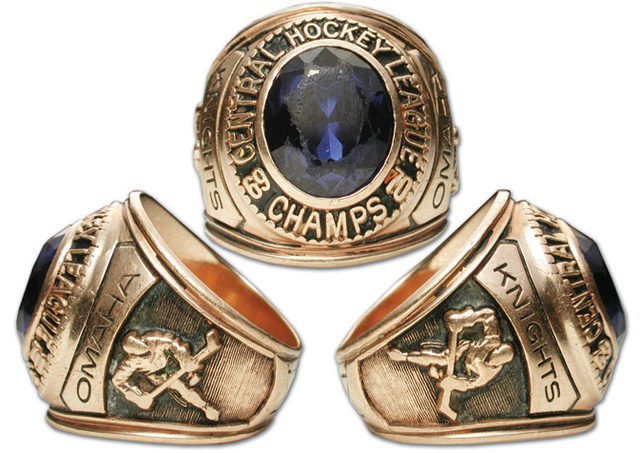 Omaha Knights - 1970 Central Hockey League Champions - Gold Ring