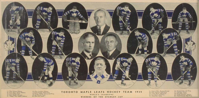 1932 Toronto Maple Leafs - Team Photo Colorized