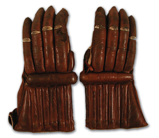 Antique Ice Hockey Gloves - Circa 1910 - Made in England