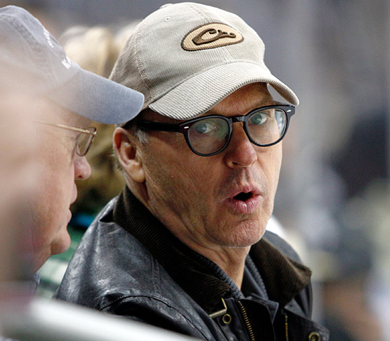 Michael Keaton at game 5 of Pittsburgh vs Ottawa - NHL Playoffs