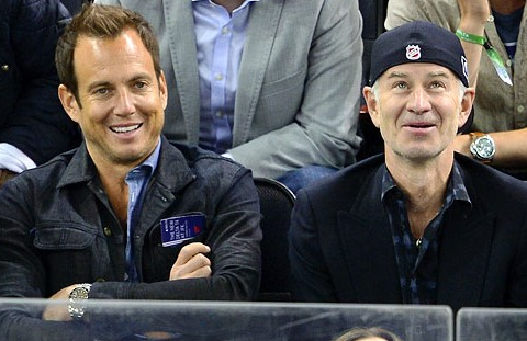 Will Arnett & John McEnroe at NY Rangers 2013 NHL Playoffs Game
