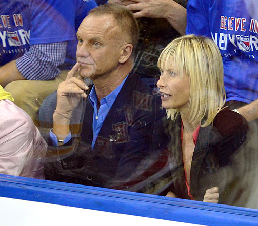 Sting / Gordon Sumner at a NY Rangers 2013 NHL Playoffs Game
