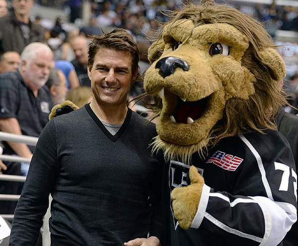 Tom Cruise at a LA Kings vs SJ Sharks 2013 NHL Playoffs Game