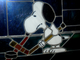 Snoopy Hockey - Hockey Stained Glass Window - Hockey Art