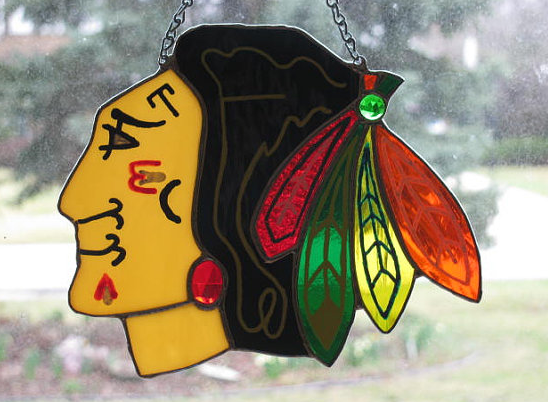 Chicago Blackhawks Stained Glass Window / Art