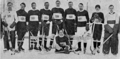 1924 Great Britain Winter Olympics Hockey Team - Chamonix
