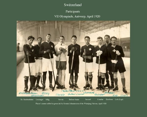 Team Switzerland - 1920 Olympics Ice Hockey - Swiss Ice Hockey