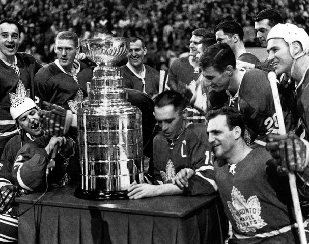 1964 Stanley Cup Champions, Toronto Maple Leafs with the Cup