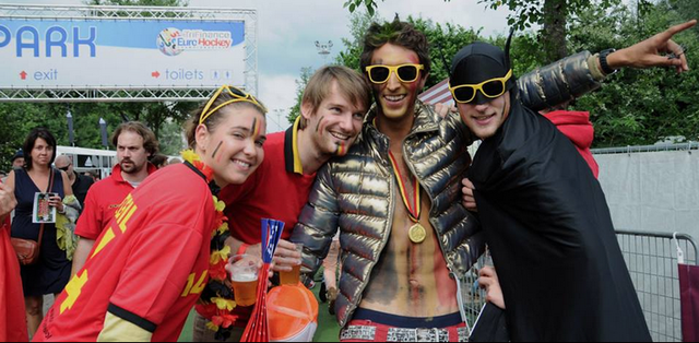 Hockey Fans at 2013 EuroHockey Championships in Belgium