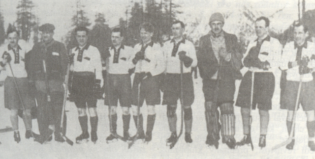 Czechoslovakia Hockey Team - 1922 European Ice Hockey Champions