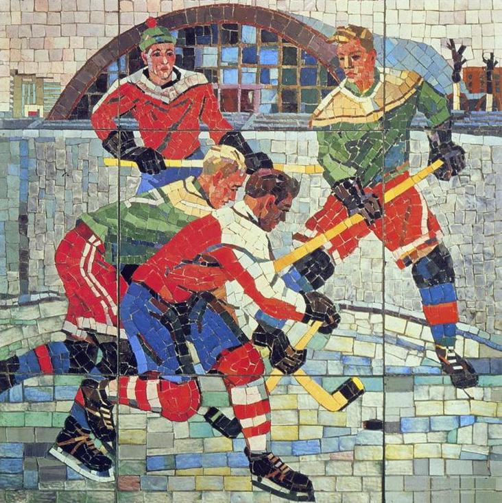 Mosaic Tiles Hockey Artwork Russian Hockey Hockeygods
