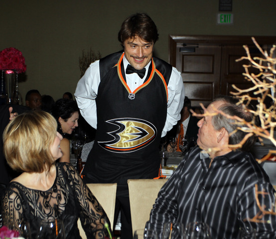 Teemu Selanne in Tuxedo - Dux in Tux Charity - Anaheim Ducks