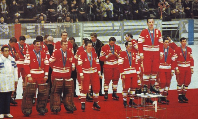 1972 Winter Olympics Hockey Champions - USSR National Team