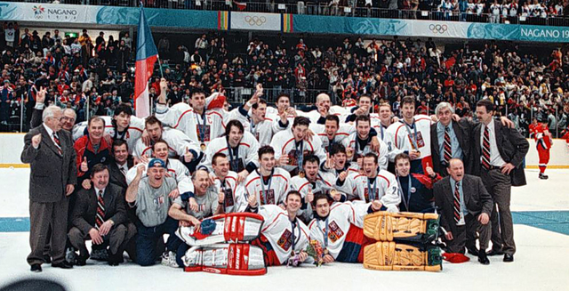 1998 Winter Olympics Hockey Champions - Czech Team Česká hokej
