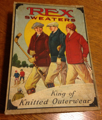 Rex Sweaters - Hockey Fashions - King of Knitted Outerwear 1920s