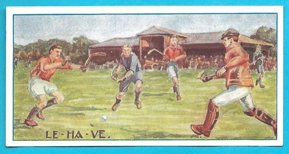 Antique Field Hockey Card - LE-HA-VE - 1926 - Hamburg - Germany