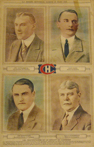 Antique Montreal Canadiens - Team Owners, Manager & Coach - 1928
