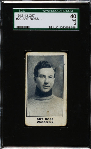 Art Ross - C57 Hockey Card #20  - 1912 - SGC 40 - VG 3
