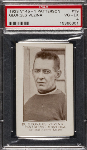 Georges Vezina - William Patterson V145-1 Hockey Card #19 - 1923