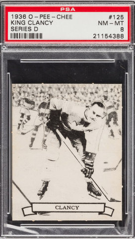 King Clancy - O-Pee-Chee Hockey Card #125 - Series D - 1936