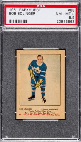 Bob Solinger - Parkhurst Hockey Card #88 - 1951 - PSA 8.5
