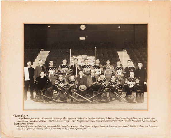 New York Americans - Team Photo - 1927-28
