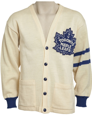 Johnny Bower - Toronto Maple Leafs Cardigan Sweater - 1958
