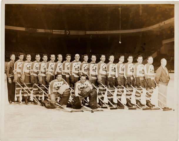 New York Americans - Team Photo - 1937-38