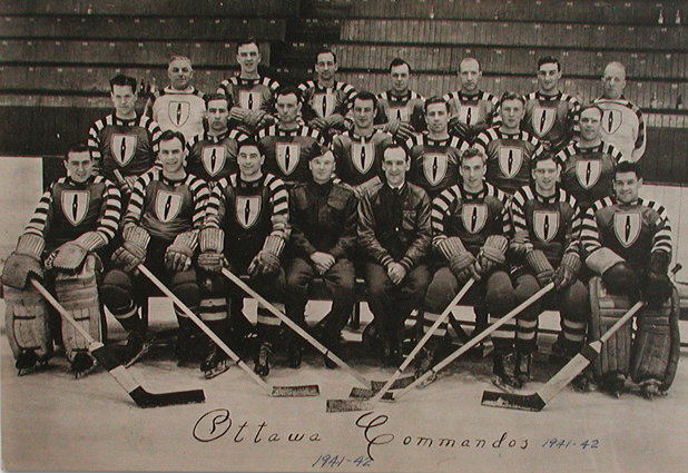 Ottawa Commandos - Quebec Senior Hockey League - 1942