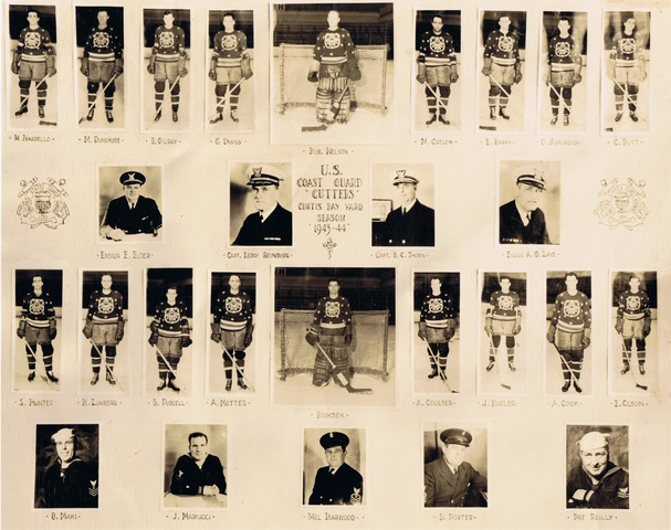 "United States Coast Guard ""Cutters"" Ice Hockey Team - 1943-44"