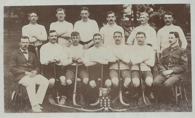 Antique Field Hockey Championship Team - Army Hockey Team - 1908