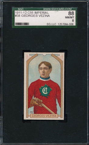 Georges Vezina Hockey Card #38 - Imperial Tobacco - 1911