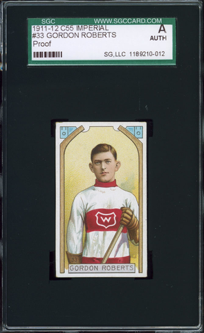 Gordon Roberts Hockey Card #33 - Proof - Imperial Tobacco - 1911